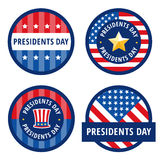 Saluti del distintivo per il giorno di presidenti Fotografia Stock Libera da Diritti