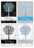 Saluti della stagione - cartoline d'auguri Immagini Stock