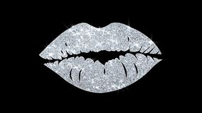 Saluti delle particelle dell'icona dell'elemento di lampeggiamento dell'elemento di bacio, invito, fondo di celebrazione royalty illustrazione gratis