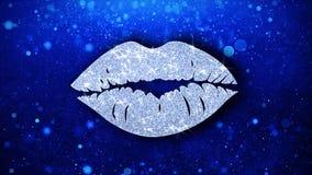 Saluti delle particelle dell'icona dell'elemento di lampeggiamento dell'elemento di bacio, invito, fondo di celebrazione illustrazione di stock