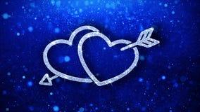Saluti delle particelle dell'icona dell'elemento di lampeggiamento del cuore, invito, fondo di celebrazione royalty illustrazione gratis