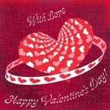 Saluti di giorno di biglietti di S. Valentino Fotografia Stock Libera da Diritti