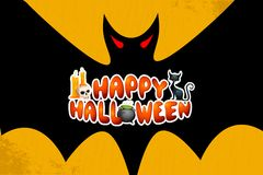 Saluti di Halloween Fotografia Stock