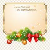 Saluti di Natale Fotografie Stock Libere da Diritti