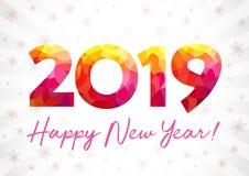 Saluti di natale di 2019 buoni anni Fotografia Stock Libera da Diritti