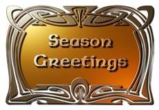 Saluti di stagione (incorniciati) Fotografia Stock
