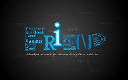 Saluti felici di giorno di amicizia Fotografia Stock