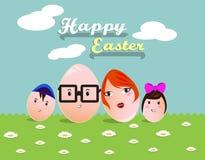 Saluti felici di Pasqua Fotografia Stock Libera da Diritti