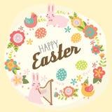 Saluti felici di Pasqua Fotografia Stock