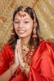 Saluti indiani Fotografie Stock Libere da Diritti