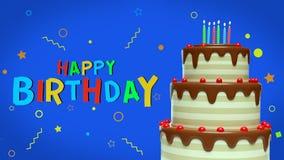 saluti moderni di compleanno 3d royalty illustrazione gratis