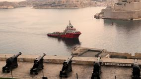 Saluting battery Malta.  stock video footage