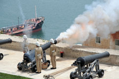 Saluting battery at St James, Valletta Malta Royalty Free Stock Photography