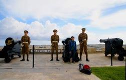 Saluting  Battery in Valletta, capital of Malta Island. Royalty Free Stock Photos