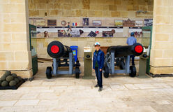 Saluting  Battery in Valletta, capital of Malta Island. Stock Images