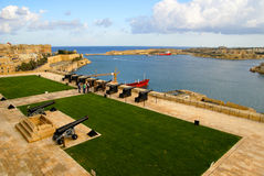 Saluting  Battery in Valletta, capital of Malta Island. VALLETTA, MALTA ISLAND ,EUROPE - NOVEMBER 4, 2014.Saluting Lascaris Battery in Valletta, capital of Stock Images