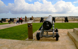 Saluting  Battery in Valletta, capital of Malta Island. Royalty Free Stock Photos