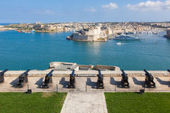 Saluting battery at Valletta. Saluting battery at the harbour of  the capital city of Valletta. Malta Stock Photos