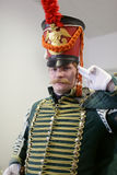 Saluting hussar Stock Photography