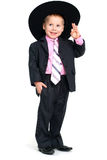 Saluting smiling boy Royalty Free Stock Photography
