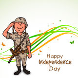 Saluting soldiers for Indian Independence Day. Stock Photography