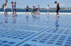 Saluto al Sun Zadar, Croatia Immagine Stock Libera da Diritti