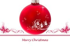 Saluto Crad di Buon Natale Immagini Stock Libere da Diritti