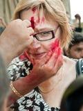 Saluto culturale al turista Fotografia Stock Libera da Diritti