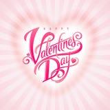 Saluto decorativo di giorno di biglietti di S. Valentino Immagini Stock Libere da Diritti