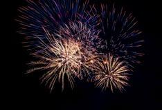 Saluto dei fuochi d'artificio Immagine Stock Libera da Diritti