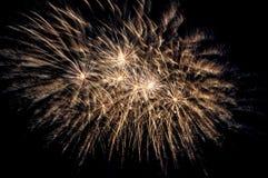 Saluto dei fuochi d'artificio Fotografia Stock Libera da Diritti