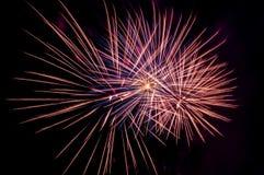 Saluto dei fuochi d'artificio Fotografie Stock Libere da Diritti