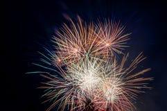 Saluto dei fuochi d'artificio Immagine Stock