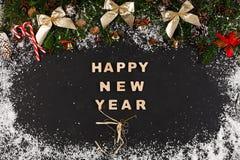 Saluto del buon anno, fondo della decorazione Fotografia Stock Libera da Diritti