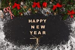 Saluto del buon anno, fondo della decorazione Fotografia Stock