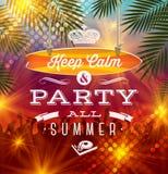 Saluto del partito di vacanze estive Fotografie Stock