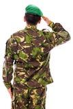 Saluto del soldato dell'esercito Fotografia Stock Libera da Diritti