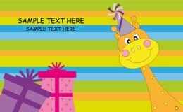 Saluto della giraffa Fotografia Stock