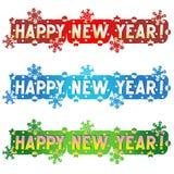 Saluto di festa - nuovo anno felice! Fotografia Stock Libera da Diritti