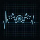 Saluto di giorno della Repubblica con il battito cardiaco Immagine Stock Libera da Diritti