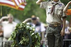 Saluto di Memorial Day Fotografia Stock