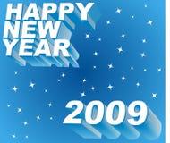 Saluto di nuovo anno felice Immagini Stock