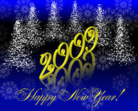Saluto di nuovo anno felice Immagine Stock Libera da Diritti