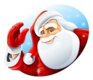 Saluto felice del fronte del Babbo Natale Fotografie Stock Libere da Diritti