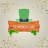 Saluto felice di giorno del ` s di St Patrick Immagini Stock