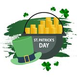 Saluto felice di giorno del ` s di St Patrick Fotografie Stock Libere da Diritti