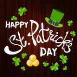 Saluto felice di giorno del ` s di St Patrick Giorno del ` s di St Patrick dell'iscrizione sopra Immagine Stock