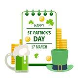 Saluto felice di giorno del ` s di St Patrick Giorno del ` s di St Patrick dell'iscrizione sopra Fotografia Stock