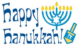 Saluto felice di Hanukkah Fotografia Stock Libera da Diritti