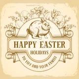 Saluto felice di Pasqua illustrazione di stock